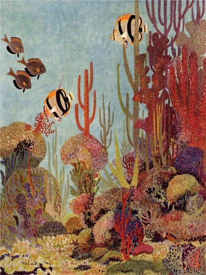 Coral and Fish, 1933--Giclee Print