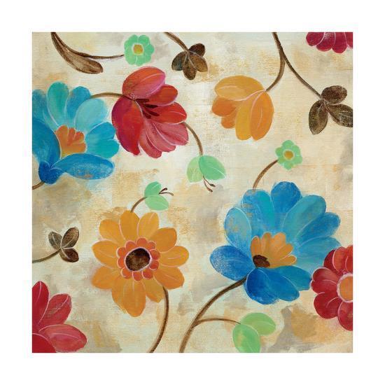 Coral and Teal Garden I-Silvia Vassileva-Art Print