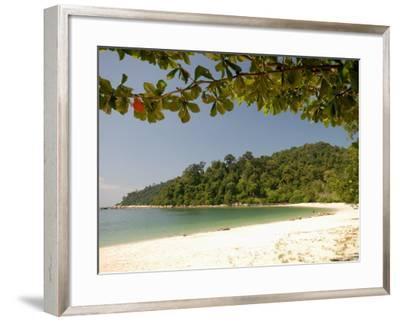 Coral Bay Beach, Pangkor Island, Perak State, Malaysia, Southeast Asia, Asia-Richard Nebesky-Framed Photographic Print