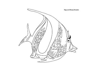 Coral Fish 11-Olga And Alexey Drozdov-Giclee Print