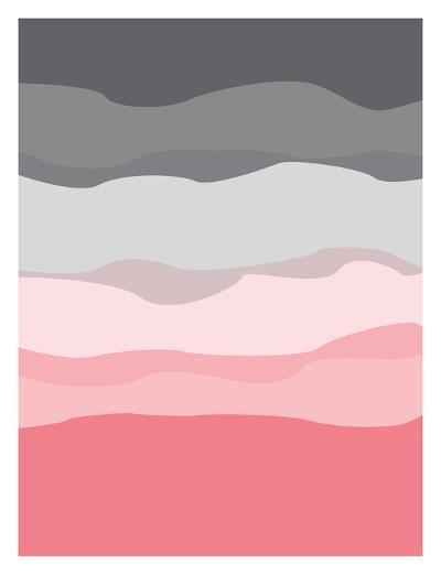 Coral Gray Abstract-Jetty Printables-Art Print