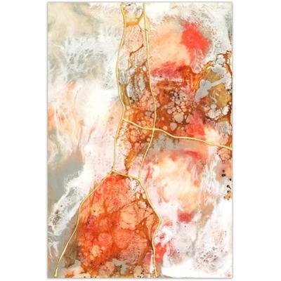 Coral Lace 2 - Free Floating Tempered Glass Panel Graphic Art