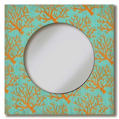 Coral Lace Mirror Wood Sign--Wood Sign