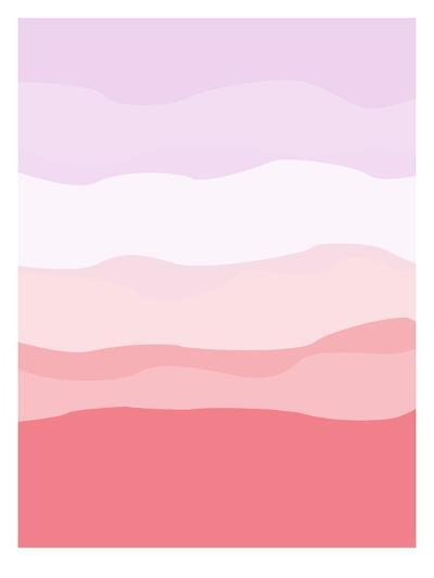 Coral Lavender Abstract-Jetty Printables-Art Print