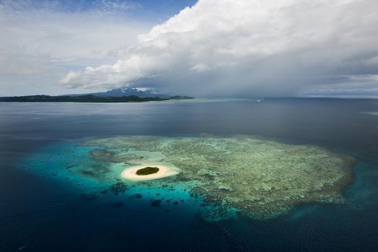 Coral Reefs and Islets Off Nadi Island-Mattias Klum-Photographic Print