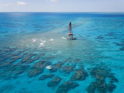 Coral Reefs Seen During Spring Low Tides at Sombrero Key Lighthouse-Mike Theiss-Photographic Print