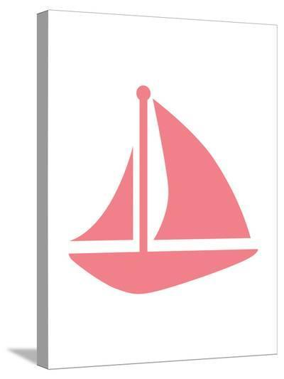 Coral Sailboat-Jetty Printables-Stretched Canvas Print