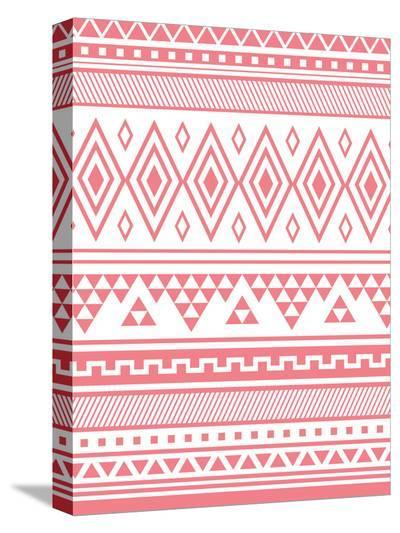 Coral Tribal-Jetty Printables-Stretched Canvas Print