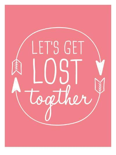 Coral White Let's Get Lost-Jetty Printables-Art Print