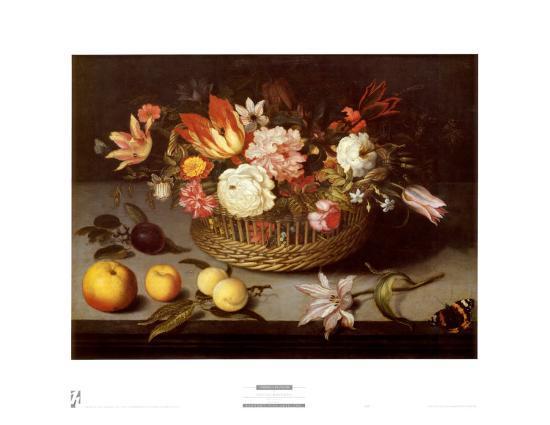 Corbeille de Fleurs-Johannes Bosschaert-Art Print
