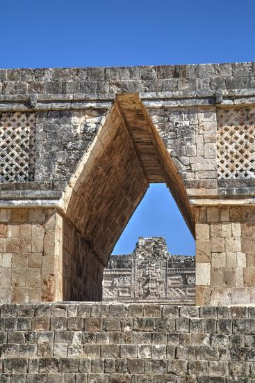 Corbelled Arch, Nuns Quadrangle, Uxmal, Mayan Archaeological Site, Yucatan, Mexico, North America-Richard Maschmeyer-Photographic Print