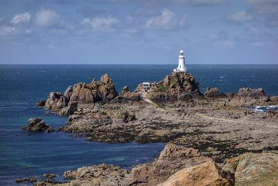 Corbiere Lighthouse and Rocky Coastline, Jersey, Channel Islands, United Kingdom, Europe-Roy Rainford-Photographic Print