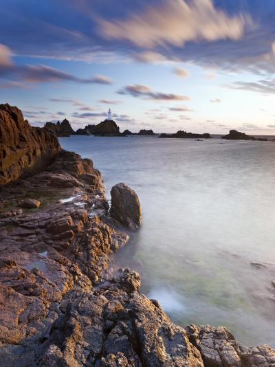 Corbiere Lighthouse at Sunset, Jersey, Channel Islands, UK-Gavin Hellier-Photographic Print