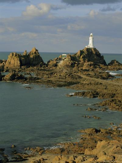 Corbieres Lighthouse, Jersey, Channel Islands, UK, Europe-Jean Brooks-Photographic Print