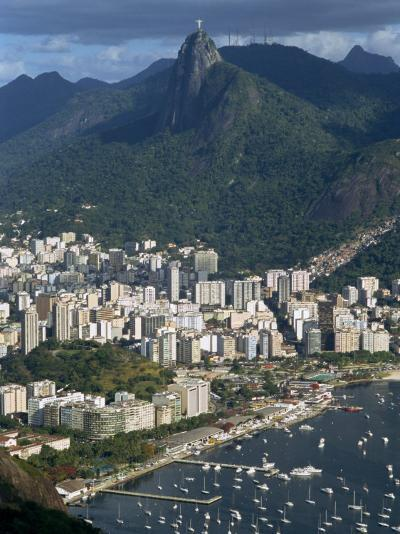 Corcovado Mountain and the Botafogo District of Rio De Janeiro from Sugarloaf Mountain, Brazil-Waltham Tony-Photographic Print