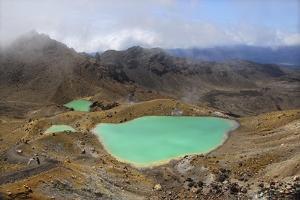 Volcanic Lakes, New Zealand by Cordelia Molloy
