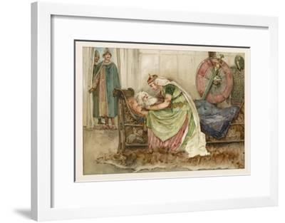 Cordelia with King Lear--Framed Giclee Print