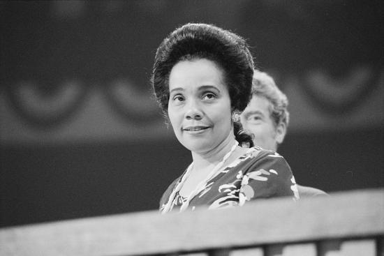 Coretta Scott King at the Democratic National Convention, NYC, 1976-Warren K^ Leffler-Photographic Print