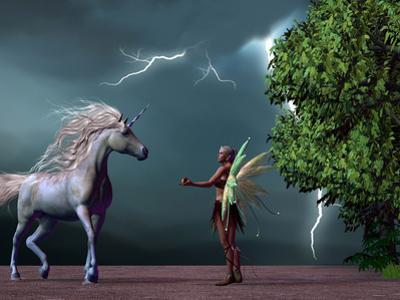 Fairy and Unicorn by Corey Ford