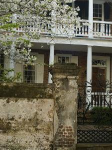 House front with balcony, Charleston, South Carolina, USA by Corey Hilz