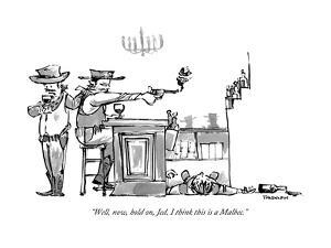 """Well, now, hold on, Jed. I think this is a Malbec."" - New Yorker Cartoon by Corey Pandolph"