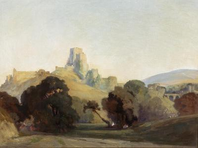 Corfe Castle, 1909-Niels Moller Lund-Giclee Print