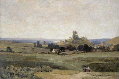 Corfe Castle, Dorset, 1905-Sir Herbert Hughes-Stanton-Giclee Print