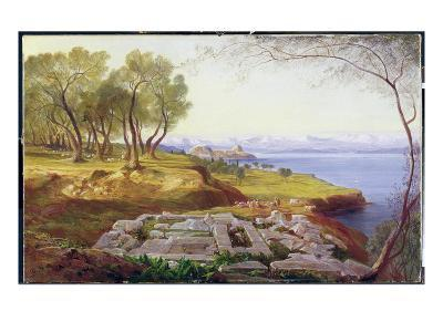 Corfu from Ascension, c.1856-64-Edward Lear-Giclee Print
