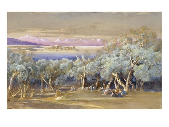 Corfu from Vonista, 1856-Edward Lear-Giclee Print