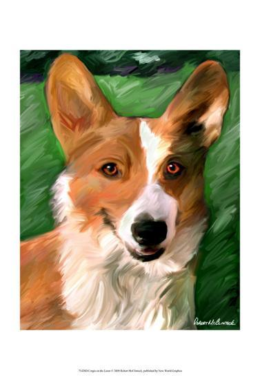 Corgie on the Lawn-Robert Mcclintock-Art Print