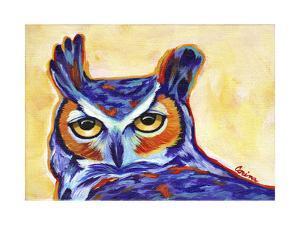 Blue Owl by Corina St. Martin