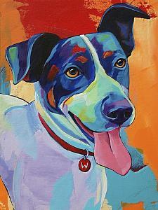 Willie Terrier Dog by Corina St. Martin