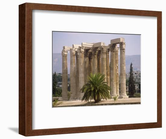 Corinthian Columns of the Temple of Zeus Dating from Between 174 BC and 132 AD, Athens, Greece-Ken Gillham-Framed Photographic Print