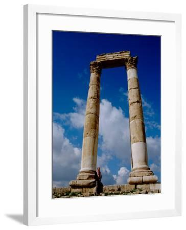 Corinthian Columns, Roman Temple and The Temple of Hercules, The Citadel, Amman, Jordan-Cindy Miller Hopkins-Framed Photographic Print