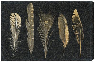 Corinthian Feathers Metallic Threaded Canvas