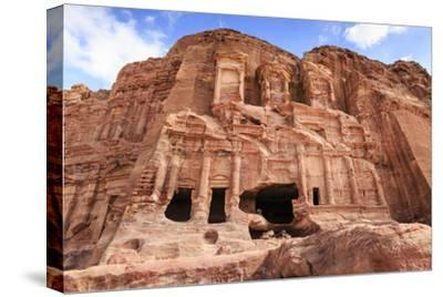 Corinthian Tomb, Royal Tombs, Petra, UNESCO World Heritage Site, Jordan, Middle East-Eleanor Scriven-Stretched Canvas Print