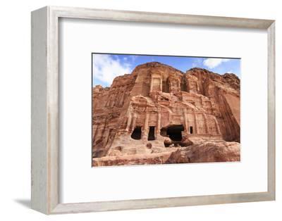 Corinthian Tomb, Royal Tombs, Petra, UNESCO World Heritage Site, Jordan, Middle East-Eleanor Scriven-Framed Photographic Print