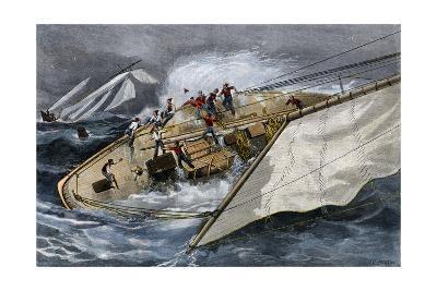 Corinthian Yacht Crew Endangered by Misunderstanding Orders, 1880s--Photographic Print
