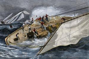 Corinthian Yacht Crew Endangered by Misunderstanding Orders, 1880s