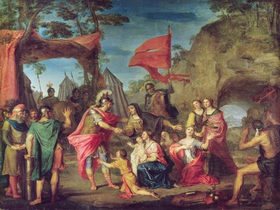 Coriolanus in the Volscian Camp, 1747-Louis Galloche-Giclee Print