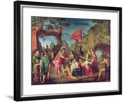 Coriolanus in the Volscian Camp, 1747-Louis Galloche-Framed Giclee Print