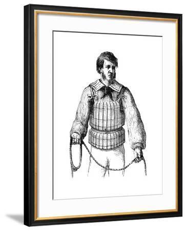 Cork Waist Life Belt, 1866--Framed Giclee Print