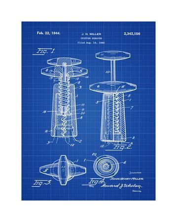 Corkscrew 1944 Blueprint-Bill Cannon-Giclee Print