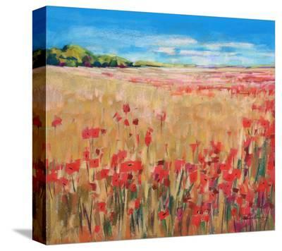 Corn And Poppies III--Stretched Canvas Print