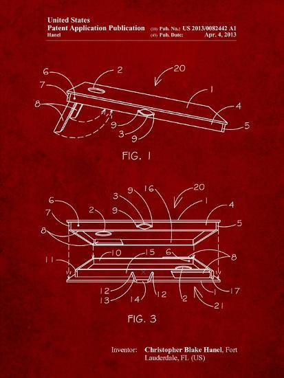 Corn Hole Board Patent-Cole Borders-Art Print