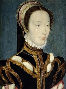 Jeanne D'Halluin Lady-In-Waiting of the Queen Catherine De Medici Ca. 1550 by Corneille de Lyon