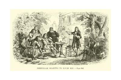 Corneille Reading to Louis XIV--Giclee Print