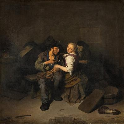 Young Couple in a Tavern, 1661
