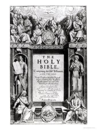 """Frontispiece to """"The Holy Bible,"""" Published by Robert Barker, 1611"""