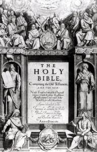 "Frontispiece to ""The Holy Bible,"" Published by Robert Barker, 1611 by Cornelis Boel"